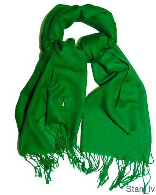 3e552670a 100 Cashmere Kelly Green Scarf Very Soft Made in Scotland S#9 for ...