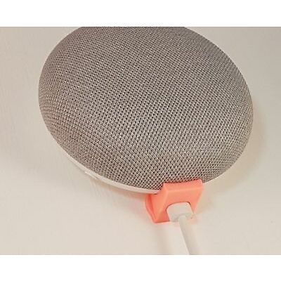 Hidden Wall Bracket Holder Mount For Google Home Mini In Coral