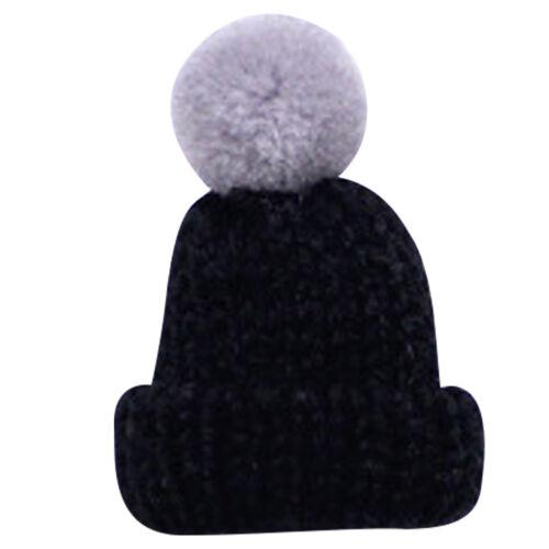 Femme Broche Epingle Mini Chapeau Casquette Tricot Crochet Pompon Bijoux Cadeau