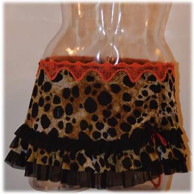 Jezebel Wild Thing Small Drip-Dry Cheeky Skirt #69504 Professional Sale Sexy Cheeky Skirt Animal Print
