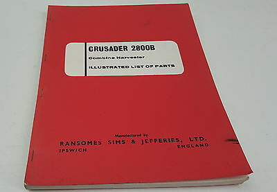 1968 Ransomes Crusader 2800b Combine Harvester Factory Parts Book 50% OFF Media