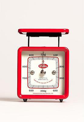 DESK SCALES Vintage Retro style RED weighing letters postal kitchen 1kg steel