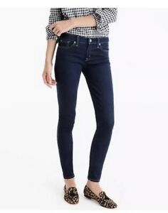 J-Crew-Dark-Wash-Mid-Rise-Toothpick-Classic-Rinse-Skinny-Ankle-Jeans-Women-s-27