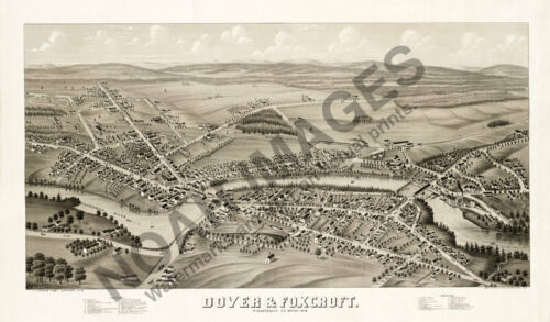 Map of Dover and Foxcroft Maine 30x18