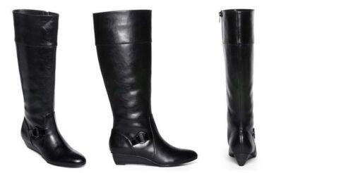 WOMEN'S Nine & Co. KAUPE TALL Boots BLACK MSRP$79 MULTIPLE SIZES NEW IN BOX