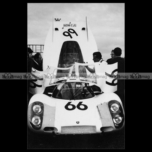 #pha.014413 Photo PORSCHE 907 L SPOERRY STEINEMANN 24 HEURES DU MANS 1968 Auto