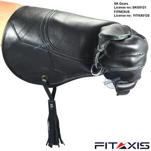 Eagle-and-Falconry-Glove-Nubuck-Leather-16-Inches-Extra-Long-Shiny-Black