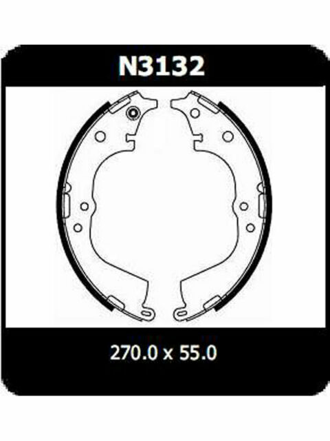 Protex Brake Shoes FOR TOYOTA HIACE RZH1_ (N3132)