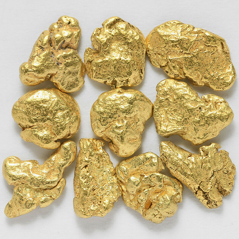 TVs Gold Rush 10 pcs Alaska Natural Placer Gold #G.5 Alaskan Gold