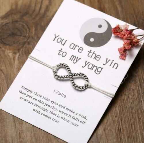 Infinity Wish Bracelet Friendship Daughter Birthday Mum Sister bridesmaid Gifts