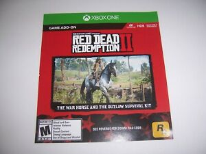 Red-Dead-Redemption-II-2-DLC-Xbox-One-XB1-War-Horse-amp-Outlaw-Survival-Kit-Add-On