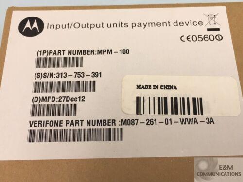 MPM-100 MOTOROLA VERIFONE MOBILE PAYMENT MODULE KEYPAD BLUETOOTH W//NEW BATTERY