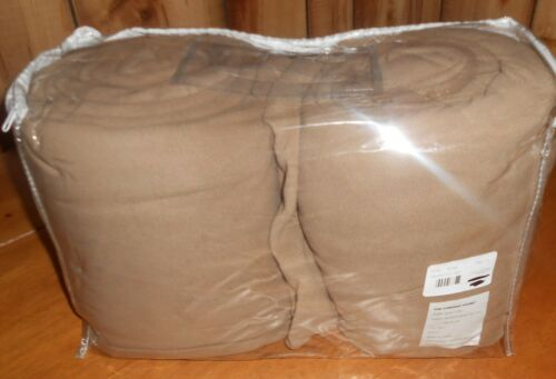 $99 The Company Store Style E5V9 F Pecan Micro Fleece FULL Size Sheet Set Warm