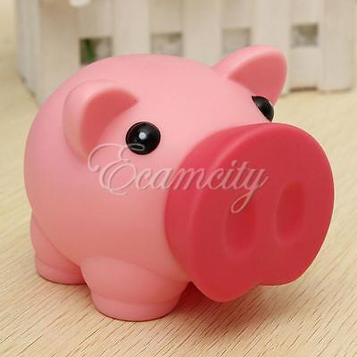 Pink Adorable Lovely Plastic Piggy Bank Saving Cash Coin Money Box Toy Kids Girl