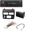 Kenwood In-Dash 1-DIN CD Stereo W// Front USB Input W// CAR DASH INSTALL KIT 4
