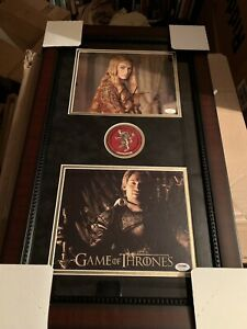Lena-Headey-Nicolaj-Coster-Waldau-Signed-Framed-Game-Of-Thrones-Photo-Lannister