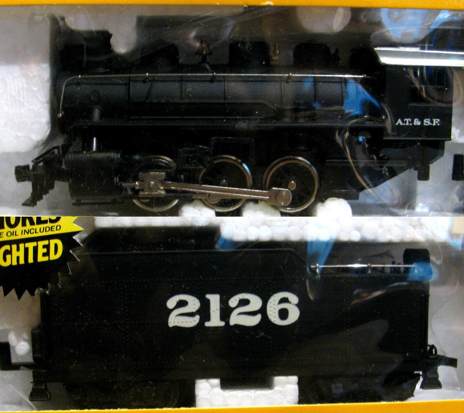 Vintage Bachmann 0646 USRA 0-6-0 SANTA FE 2126 with Light&Smoke HO Loco MINT NEW