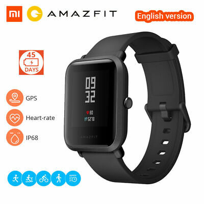 Authentic Xiaomi Huami Amazfit Bip Bracelet Smartwatch GPS IP68 Waterproof Black