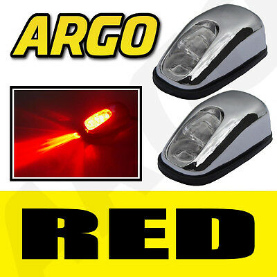 CHROME RED LED NEON LIGHT FRONT WINDSCREEN WASHER JETS NOZZLE SPRAY WATER PAIR