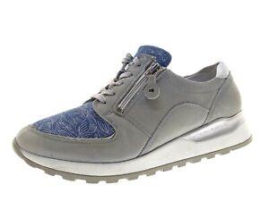 Waldläufer Damen Schuhe Sneaker Freizeitschuhe Laufschuhe Gr 39 Leder Grau