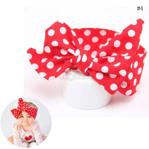 Cute Kids Girl Baby Toddler Bow Headband Hair Band Accessories Headwear