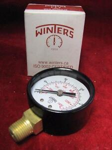 "200 psi Winters Pressure Gauge 200psi 2"" x 1/4"" Bottom Connection E204"