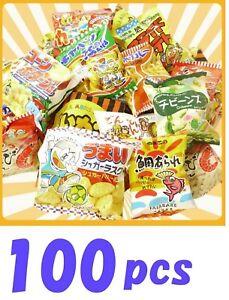 Japanese-Puffed-Snack-Box-set-100-pcs-Dagashi-Assortment