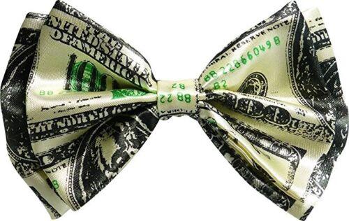 Dollar 100$ Bill Money Bow Tie Wedding Prom Adjustable Groomsmen Teens Adults