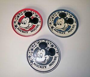 Antique-WDP-DISNEY-LOT-3-D-MICKEY-MOUSE-Portrait-Coasters