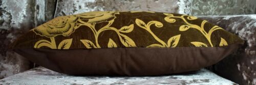 """Large Cushions or covers SET OF 4 Velvet Flock Floral 22/"""" x 22/"""" NEW"""