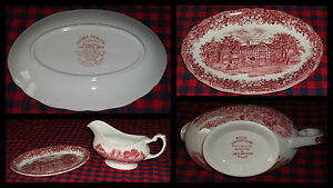 Faience-anglaise-plat-sauciere-J-amp-G-MEAKIN-Royal-Staffordshire-TBE