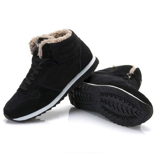 Trendy Men Outdoor Work Shoes Warm Women Boots Fashion Plush Winter Snow Boots