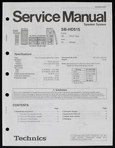 details about technics sb hd515 original speaker system service manual diagram parts list o182  technics sa 300 wiring diagram wiring