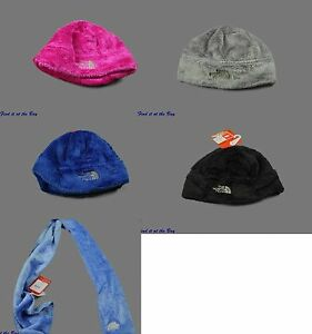 New-North-Face-Denali-Thermal-Beanie-Winter-Hat-Scarf-Coastline-Black-Gray-Pink