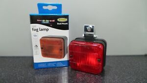 Universal-12v-Car-Van-Trailer-Approved-Square-Rear-Red-Fog-Light-Lamp-Easy-Fit