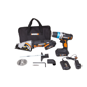 WORX-WX949L-20V-Powershare-AI-Drill-amp-WORXSAW-Combo-Kit