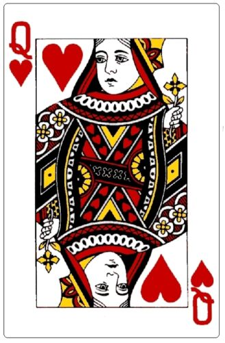 Cards # 11-8 x 10 Tee Shirt Iron On Transfer Queen of Hearts