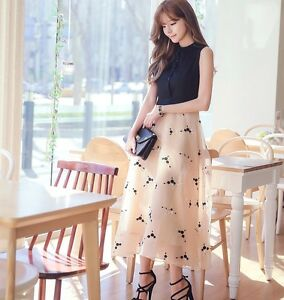 Women New Korean Fashion Slim Dress High Waist Sleeveless Summer ... 15de99d57