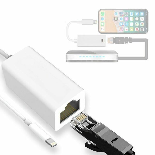 3 in 1 RJ45 Ethernet LAN Wired Network Adapter Compatible iPhone iPad to USB