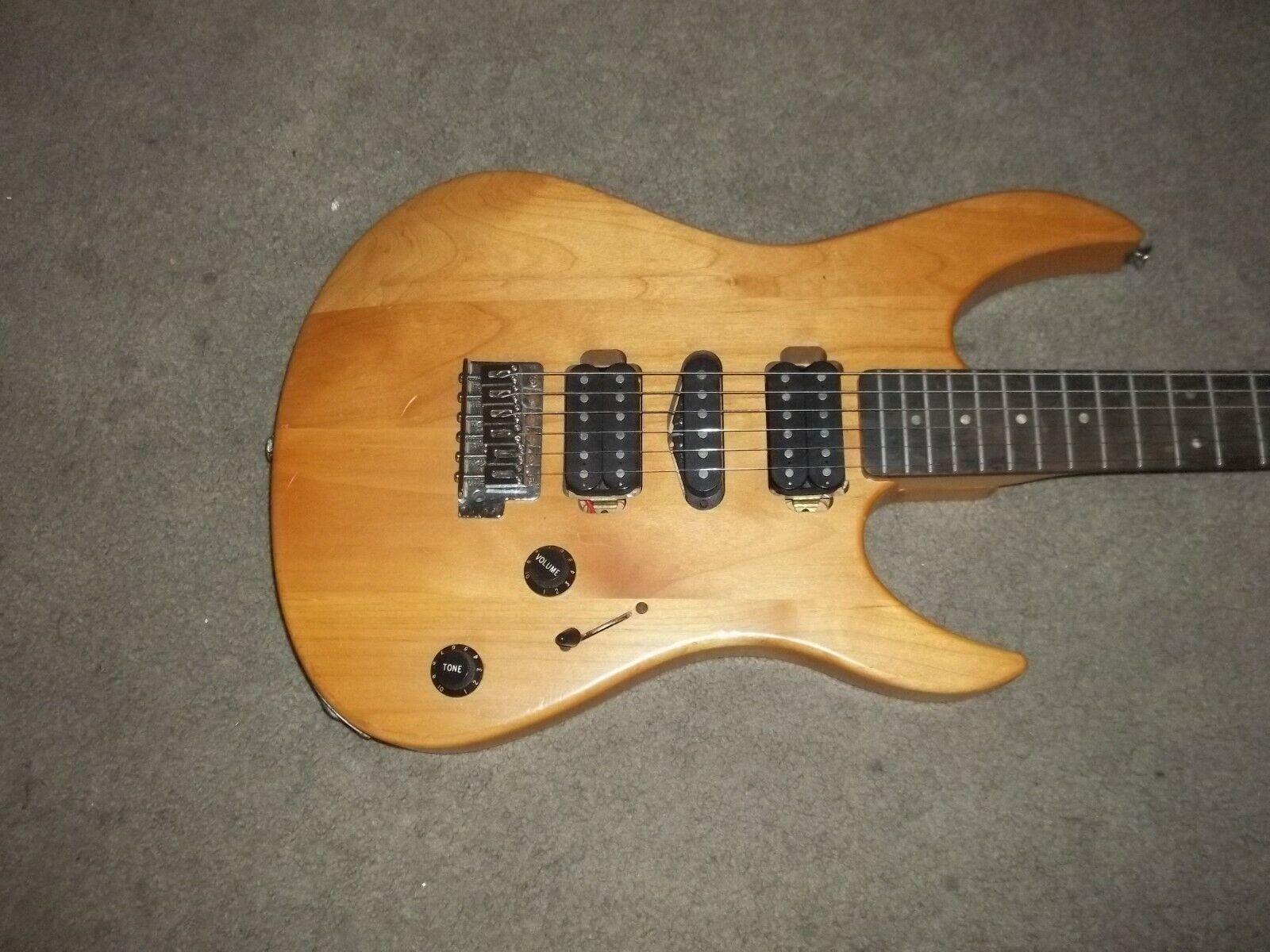 Yamaha RGX 121D Natural Strat Guitar 1996