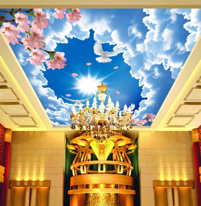 3D Sun Cloud Bird 83 Ceiling WallPaper Murals Wall Print Decal Deco AJ WALLPAPER