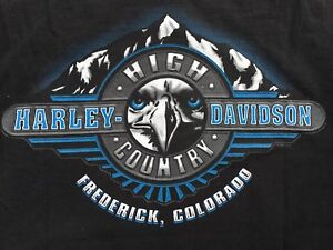 High Country Harley >> Harley Davidson High Country Frederick Colorado 2 Sided T Shirt Sz M