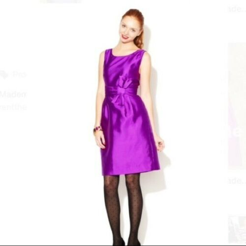 Kate Spade Mademoiselle Bow Purple Cocktail Dress