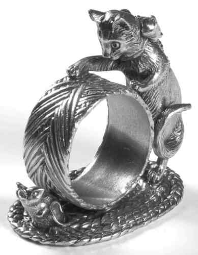Reed /& Barton 1824 COLLECTION SILVERPLATE Cat /& Mouse Napkin Ring 7023285