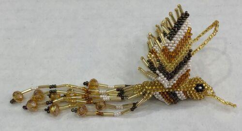 Artsy Boho Hand Beaded Colibri Humming Bird Ornament Mayan folk art Guatemala 01