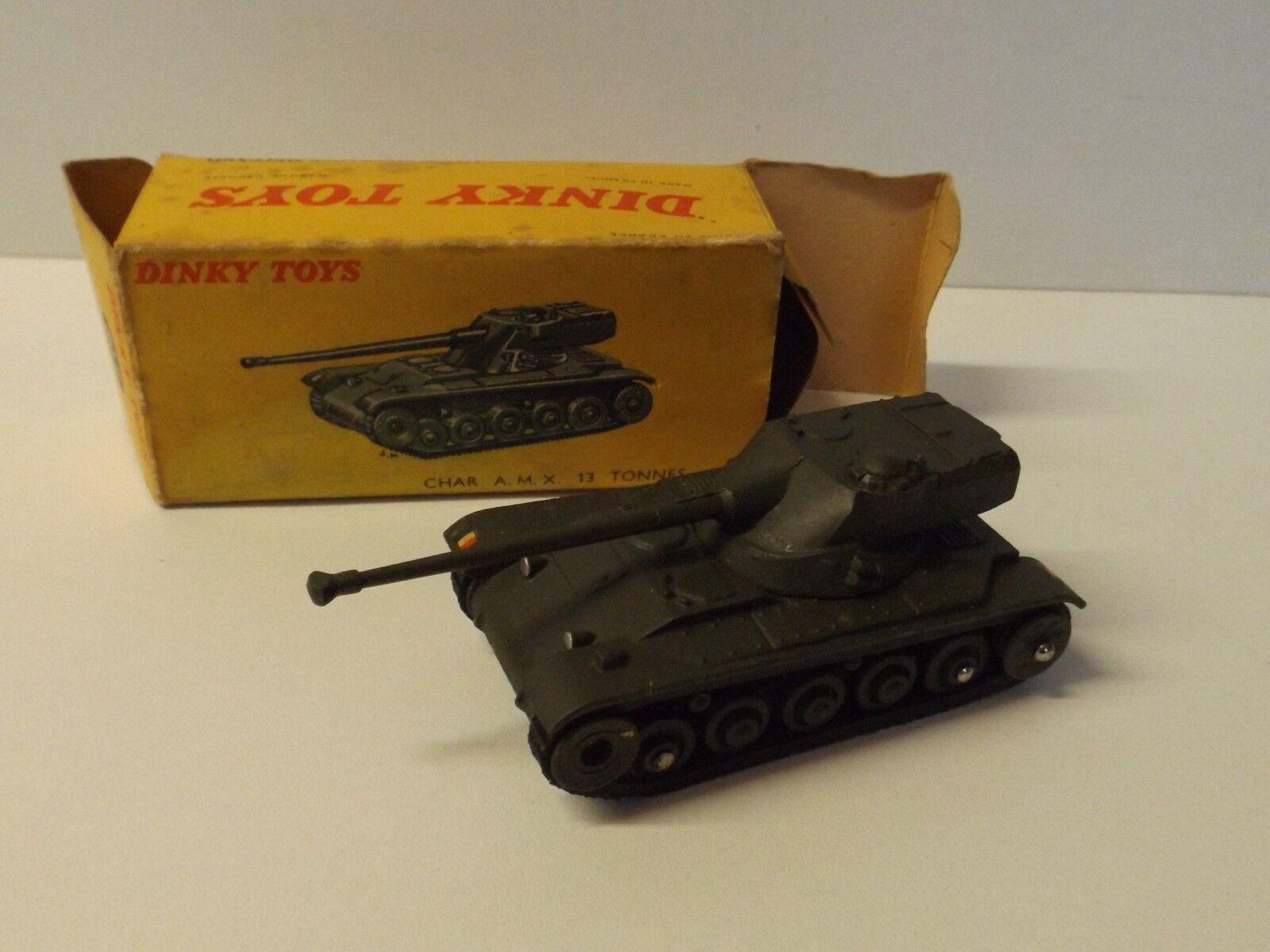 Dinky Toys Char AMX 13 Tonnes militaire + boite réf 80 C neuf L@@K
