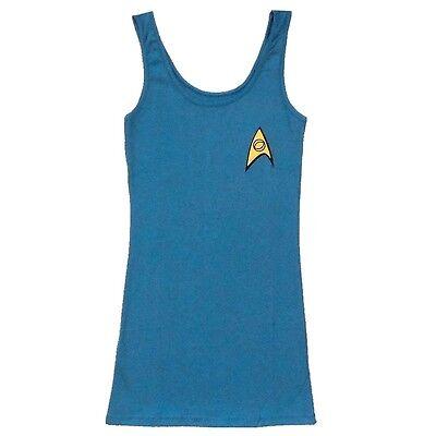 Star Trek Star Fleet Blue Science Uniform Licensed Tunic Tank Dress S-XL