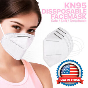 KN95 Face Mask Protective Respirator Cover Air Filter Safety Disposable K-N95