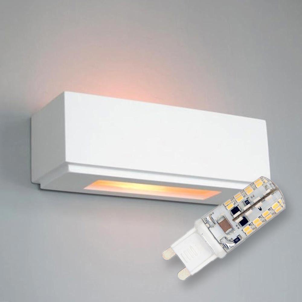 King Kong LED Gips Wandleuchte Takerwai inkl. Leuchtmittel 300lm 3W G9 warmweiß