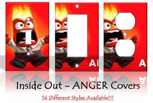 Inside Out ANGER Light Switch Covers Disney Home Decor Outlet